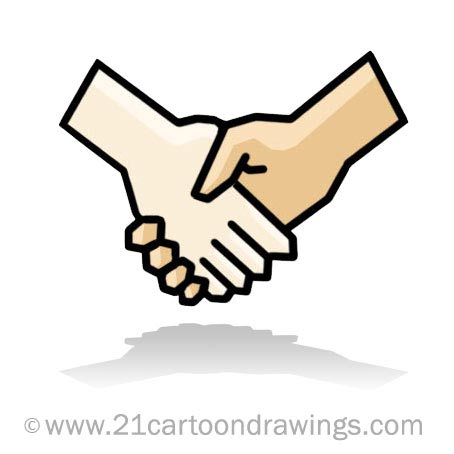 454x454 Hands Shaking Clipart