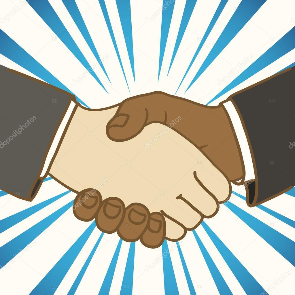 1024x1024 Illustration Of Two Businessmen Shaking Hands. Good Deal Stock