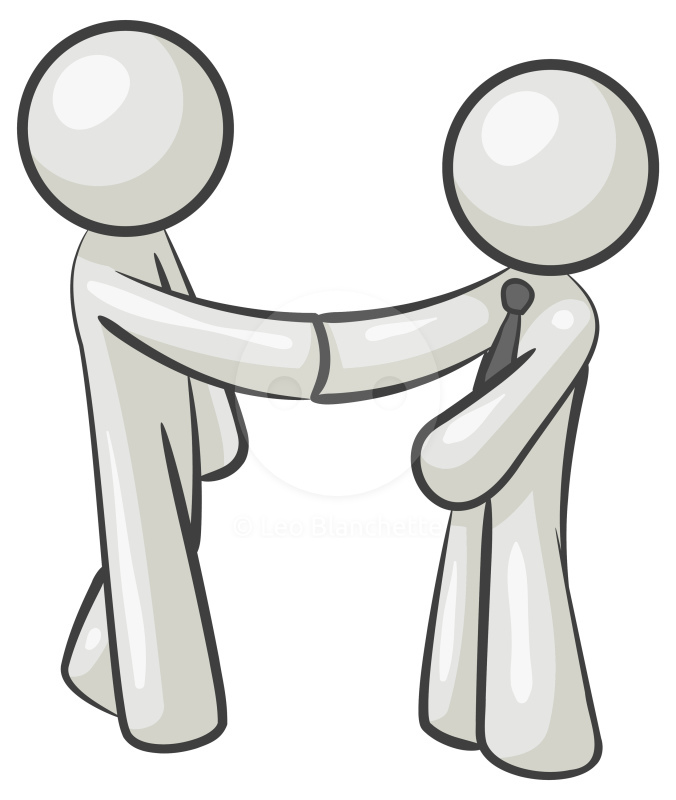 676x800 Two Men Shaking Hands Clipart