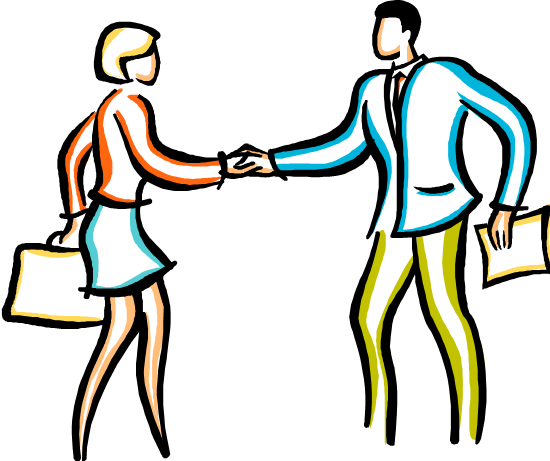 550x461 Two People Shaking Hands Clipart