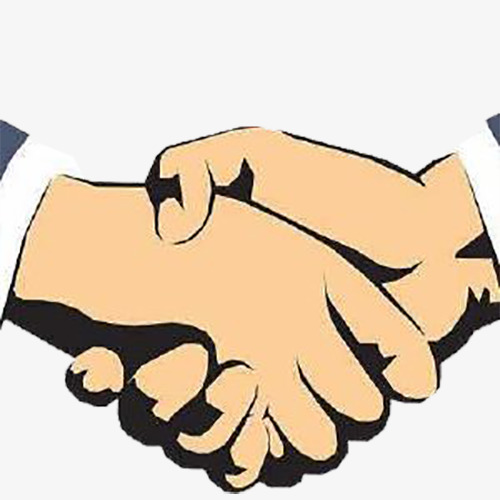 500x500 Two Men Shaking Hands, Shake Hands And, Helper, A Helping Hand Png