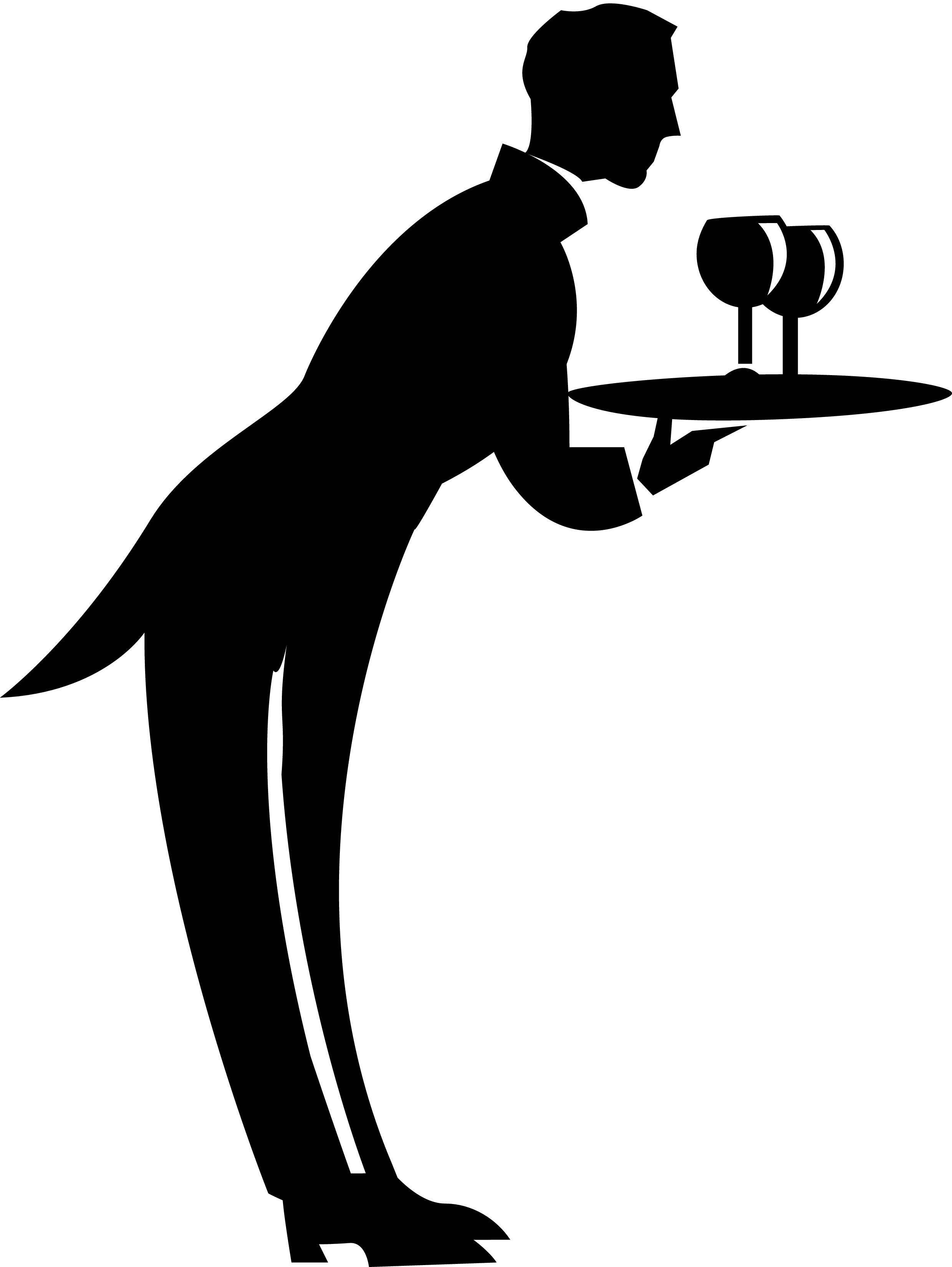 2479x3300 French Waiter Clipart