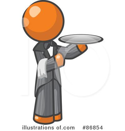 400x420 Waiter Clipart