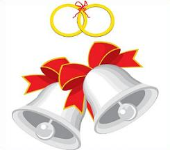 245x216 Free Wedding Bells Clipart