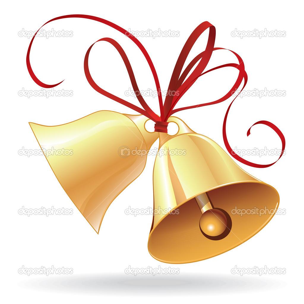 1024x1024 Golden Wedding Bells Clipart