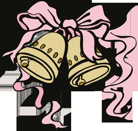 553x525 Mauve Clipart Wedding Bell