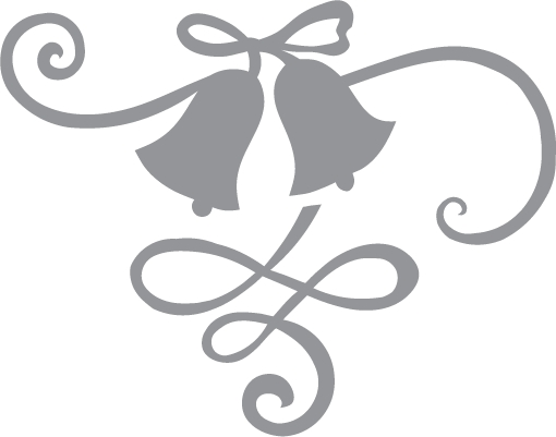 510x401 Wedding Bells And Ribbon Pre Cut Patterns On Picture Of Wedding
