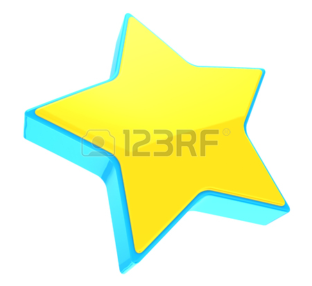 450x413 3d Illustration Of Yellow Star Over White Background Stock Photo
