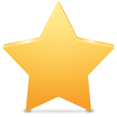 400x400 Plain Clipart Yellow Star Transparent Png