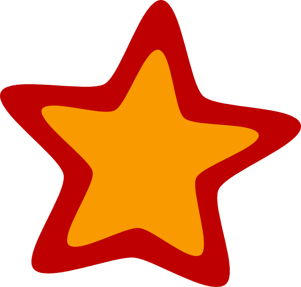 600x572 Red Yellow Star Clip Art
