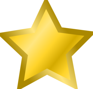 300x288 Yellow Star 3 Clip Art