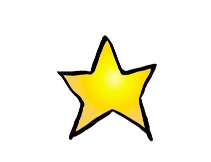 423x324 Yellow Star Clipart