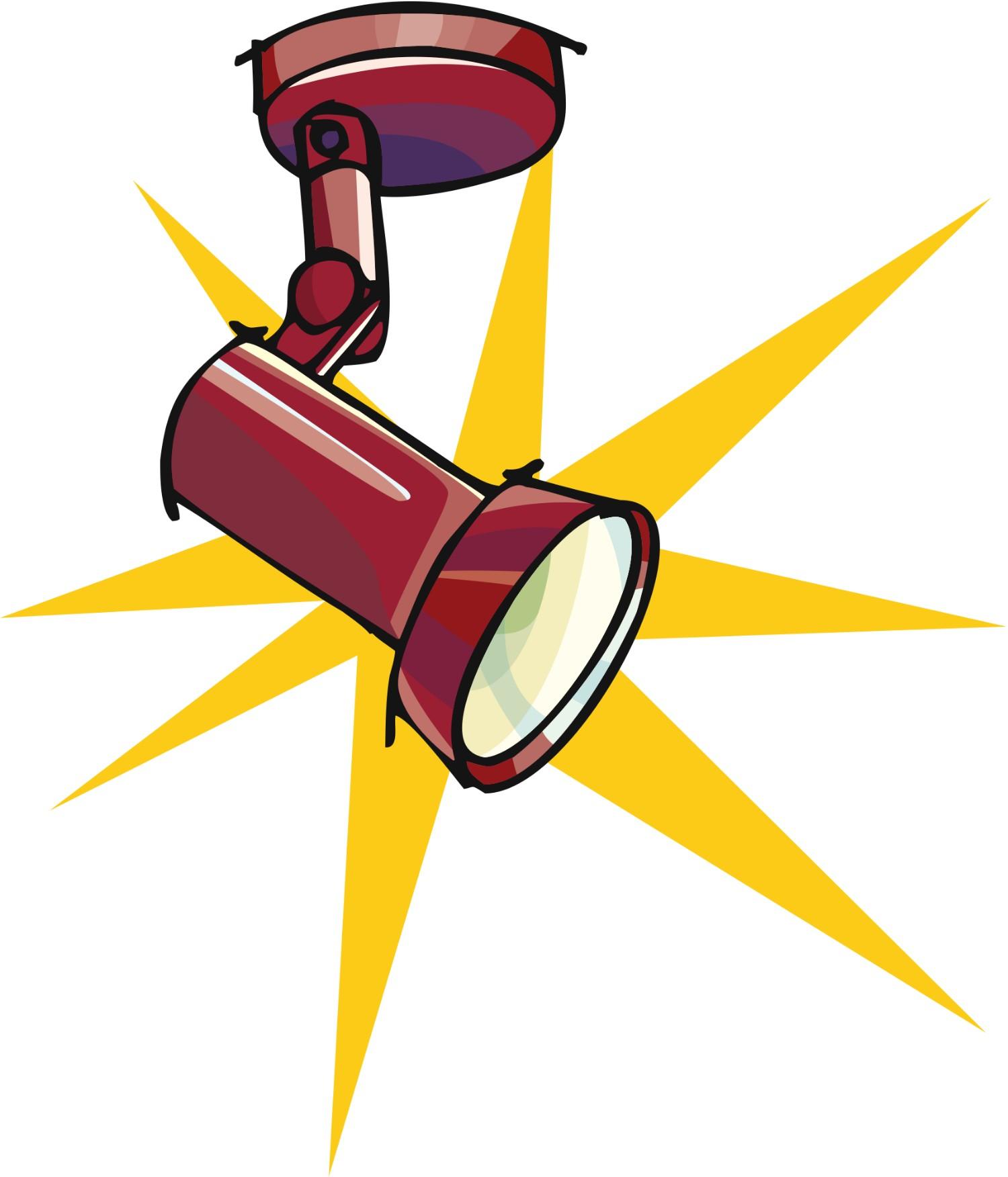 1500x1752 Vintage Spotlight Clipart