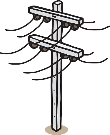 374x462 Electricity Clipart Electric Post