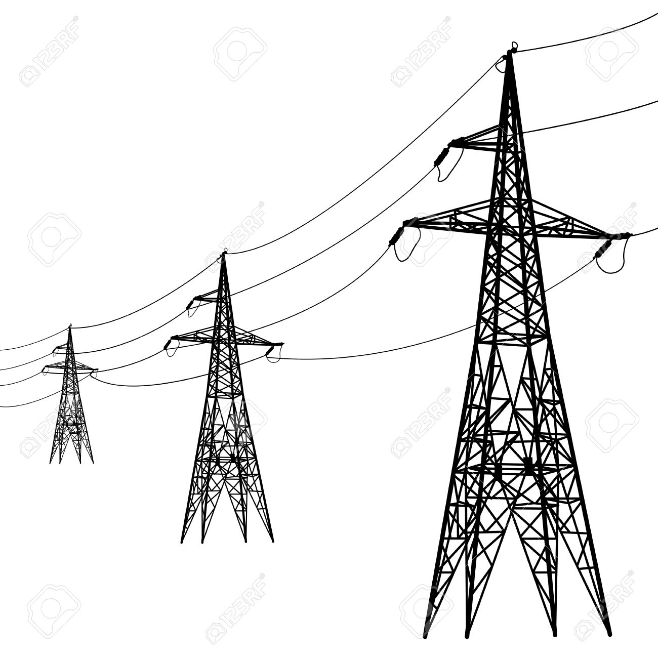 1300x1300 Electricity Clipart Electric Power Line