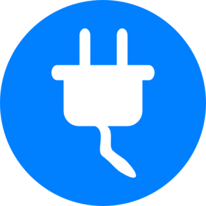 300x300 Blue Electricity Symbol Clip Art