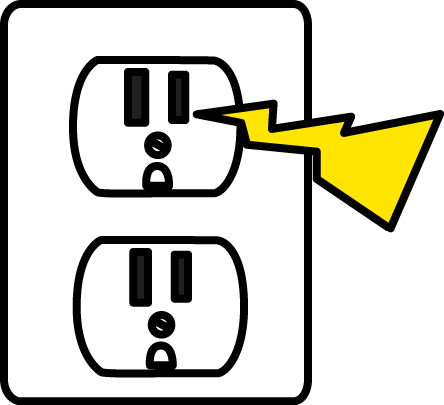 444x405 Electrical Zap Clip Art
