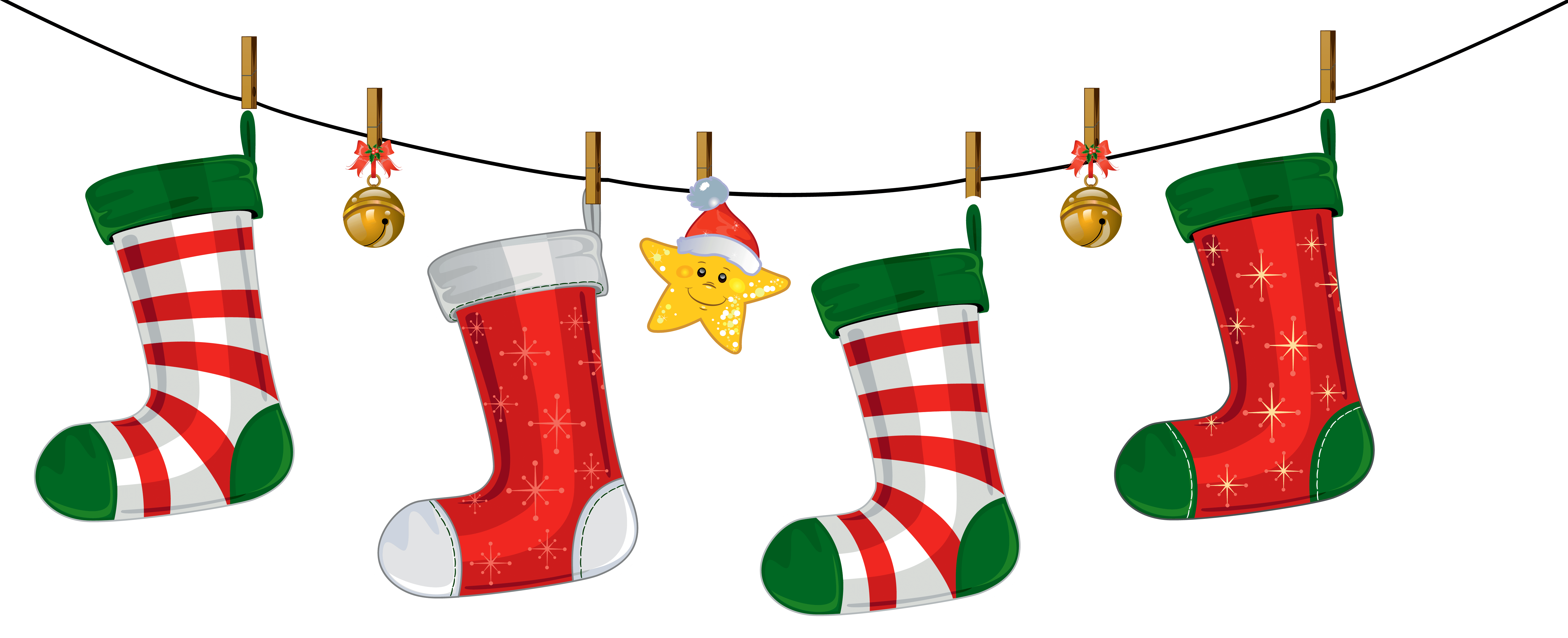5825x2372 Christmas Decorations Cliparts