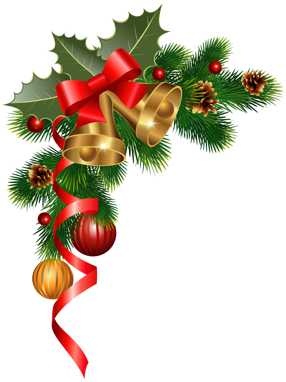 4613x6160 Christmas Ornaments Clipart Corner Border