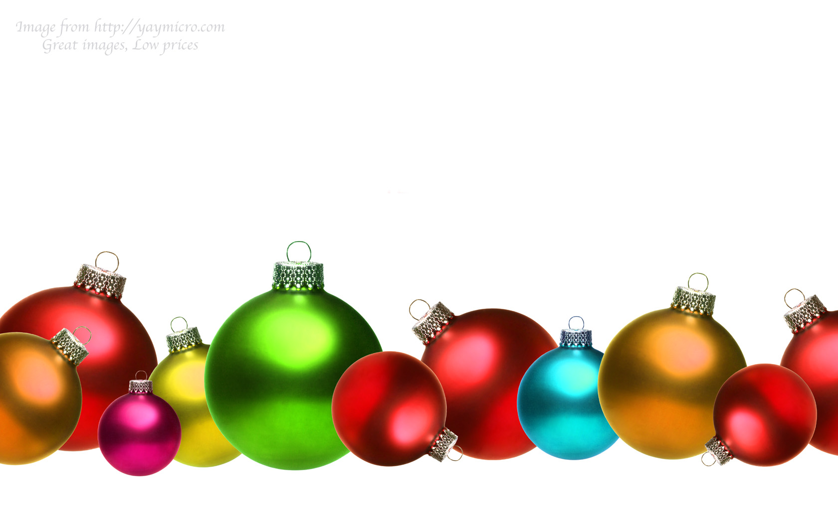 1680x1050 Christmas Ornaments Clipart Xmas Decoration