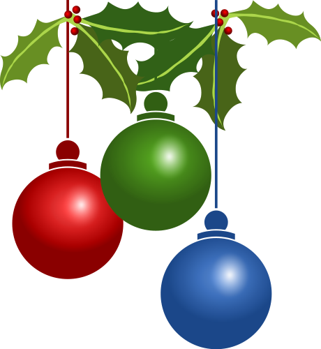 460x500 Free Christmas Ornaments Clipart