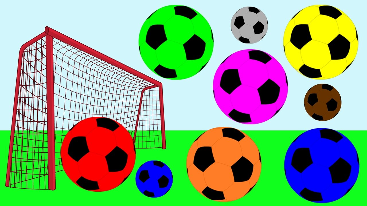 1280x720 Learn Colors For Toddlers Soccer Ball Learning Colours