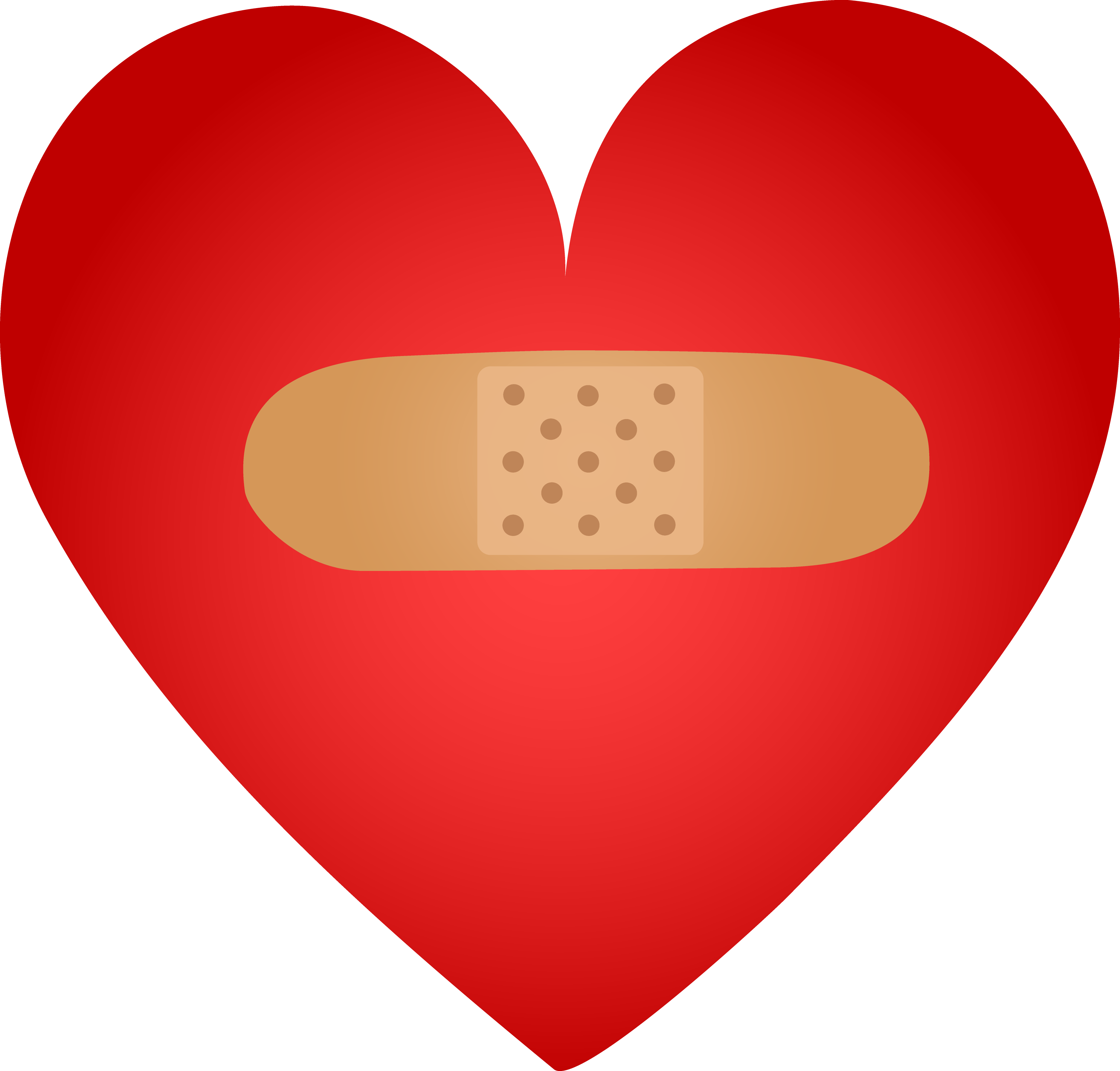 3746x3583 Healing Heart With Band Aid
