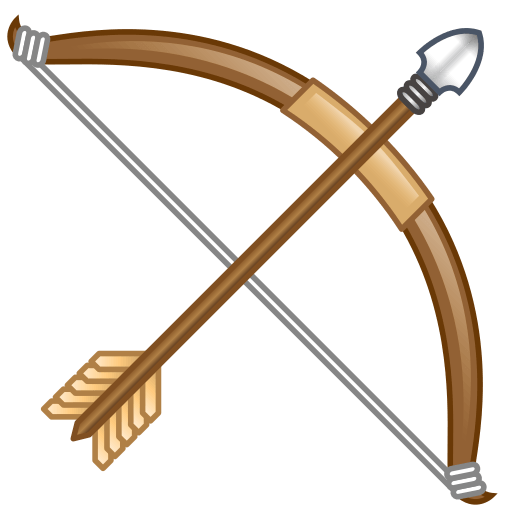 512x512 Bow And Arrow Emoji For Facebook, Email Amp Sms Id  12624 Emoji