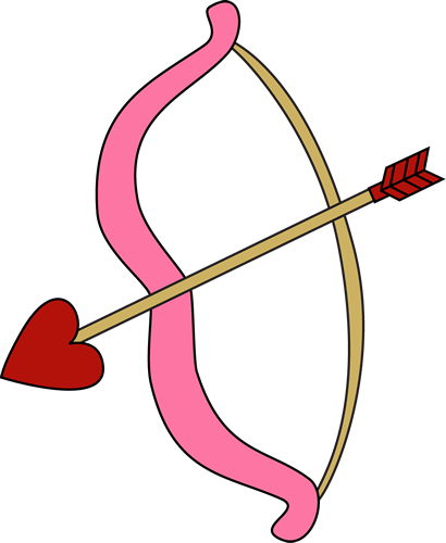 410x500 Valentine's Day Bow And Arrow Clip Art
