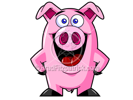 Pictures Of A Cartoon Pig