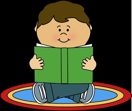 450x377 Clipart Kid Reading
