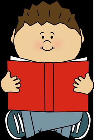 302x450 Kid Reading Alone Clip Art