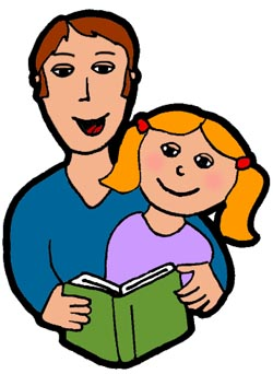 250x342 Parent Reading Clipart