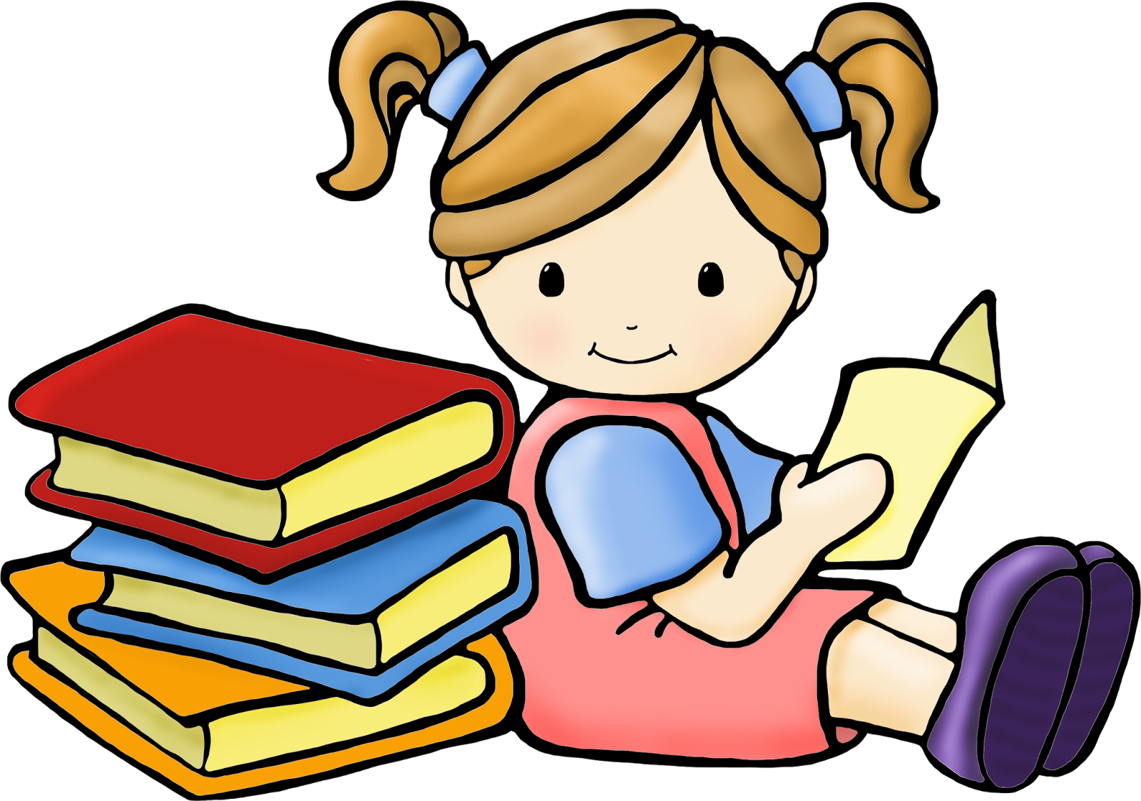 1600x1123 Clipart Child Reading A Book