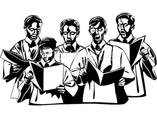 550x412 Church Choir Clip Art 4