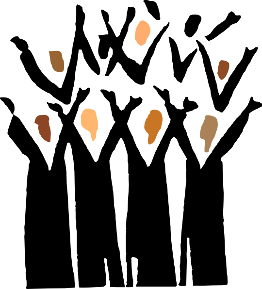540x596 Gospel Choir Clip Art
