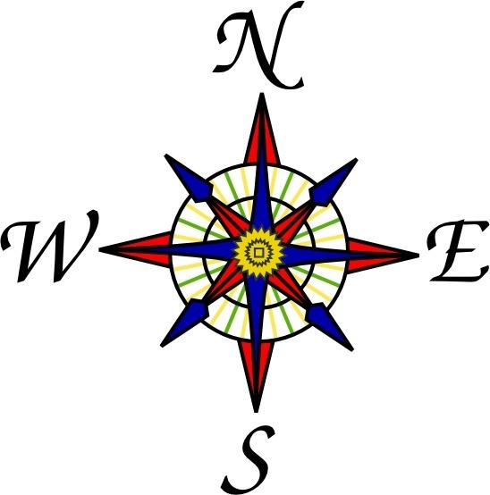 548x554 Compass Clipart Compass Rose