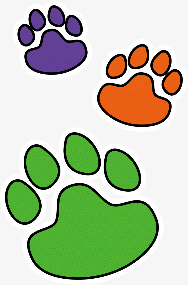 650x987 Color Dog Paw Print, Vector Png, Paws, Color Claw Png And Vector