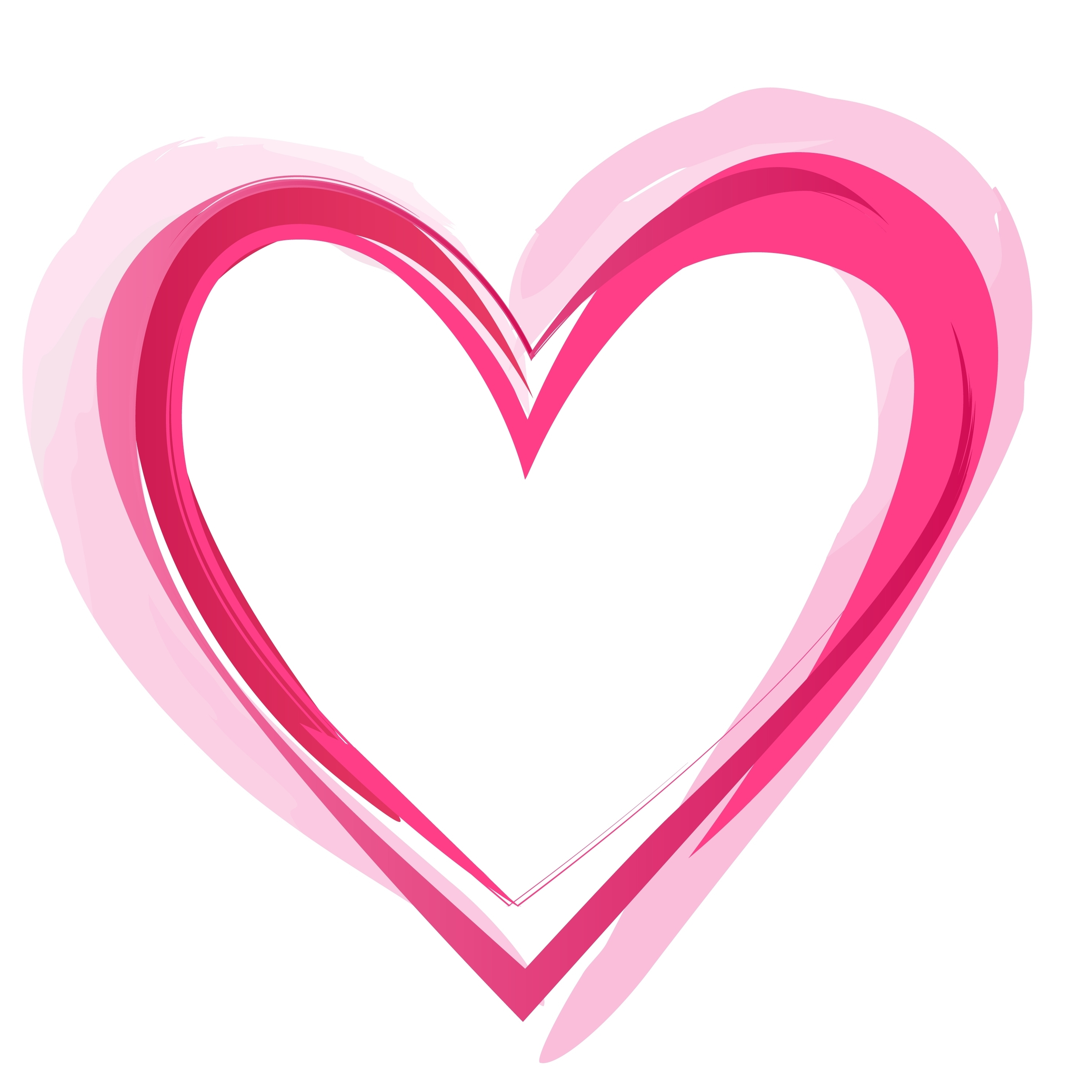 2850x2850 Heart Outline Outline Of A Heart With Hearts Vector By Shawlinmohd