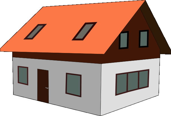 600x405 Clipart Of A House