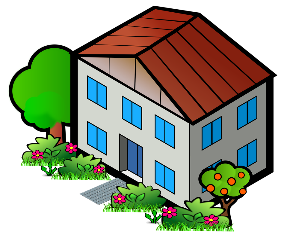 958x812 House Free Stock Photo Illustration Of A House