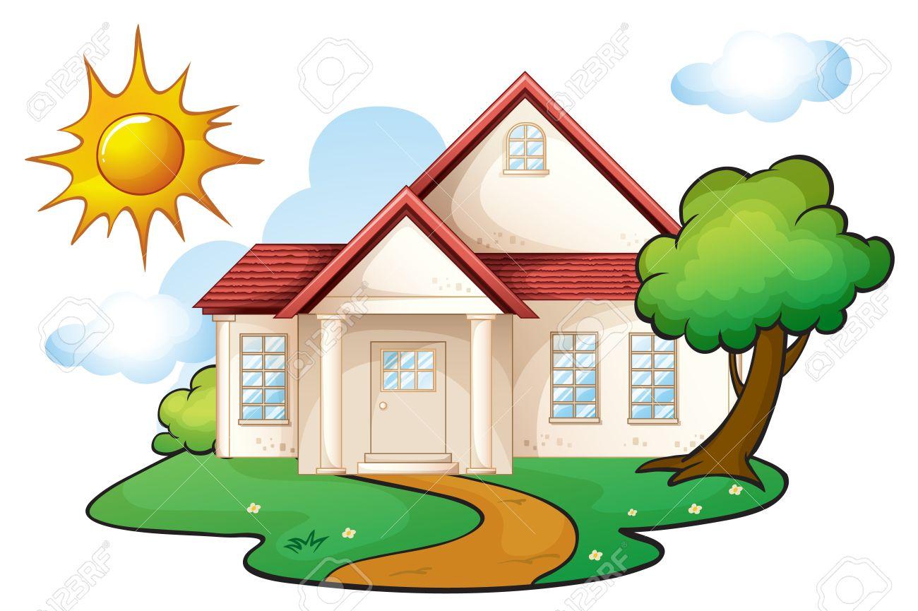 1300x865 Illistration Clipart Beautiful House
