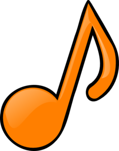 234x297 Musical Note Orange Clip Art