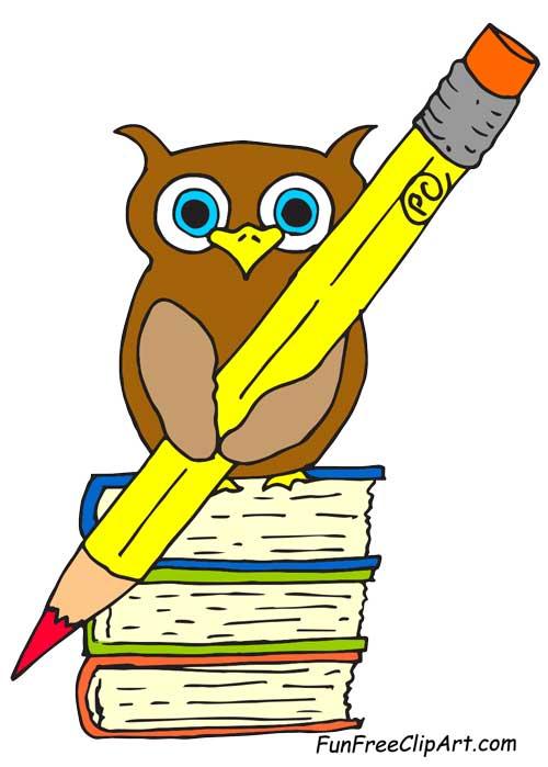 500x699 Pencil Clipart Owl