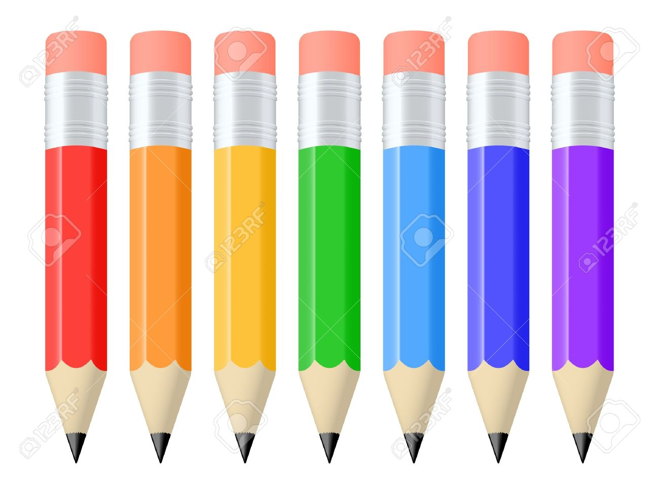 1300x975 Set Of Colorful Pencils Vector Illustration Free Cliparts