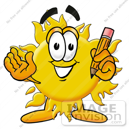 450x450 Cliprt Graphic Of Yellow Sun Cartoon Character Holding
