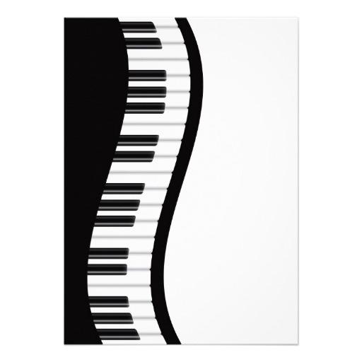 512x512 Wavy Piano Keyboard Clipart
