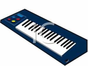 300x225 Piano Keyboard Clipart