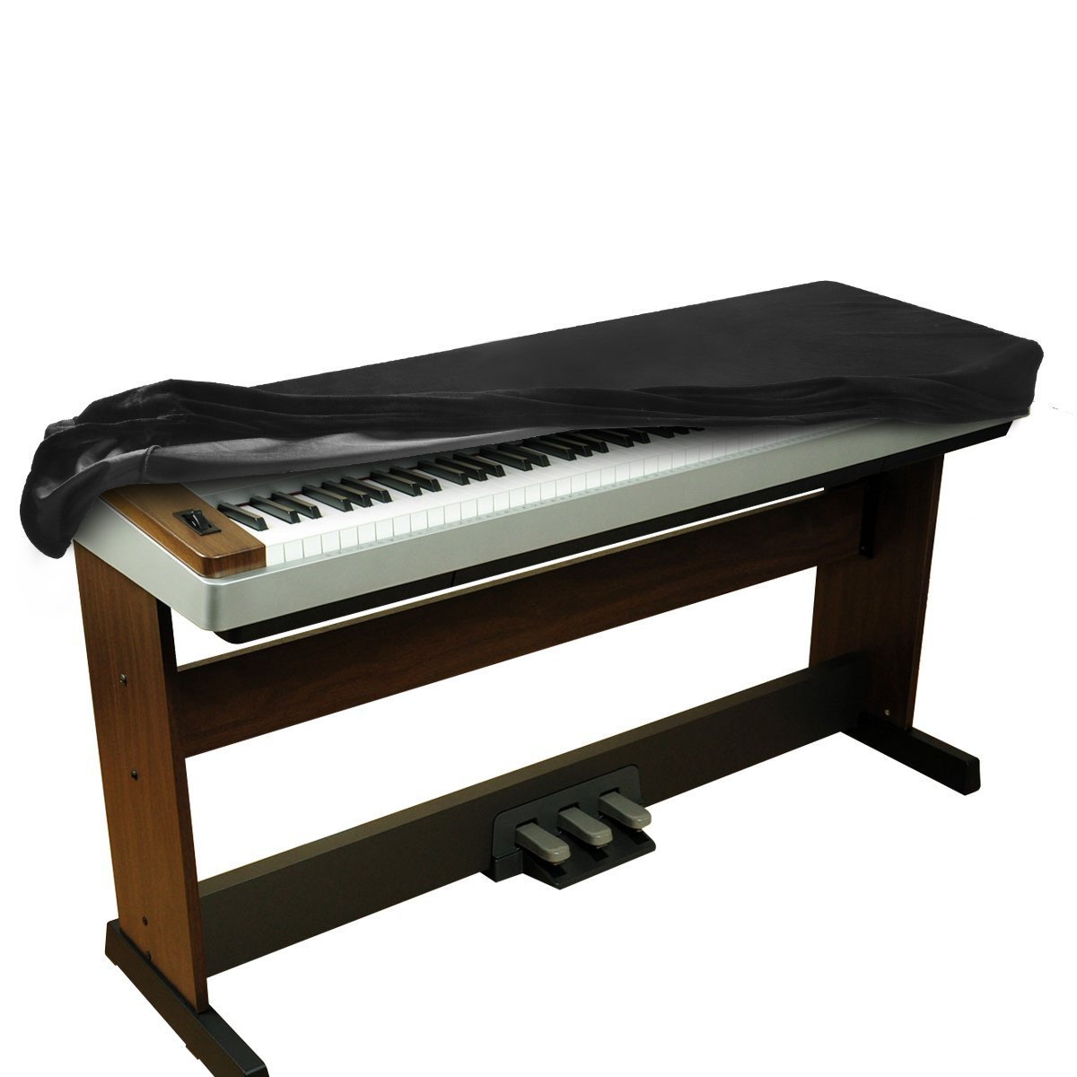 1200x1200 Balfer Stretchable Velvet Piano Keyboard Dust Cover