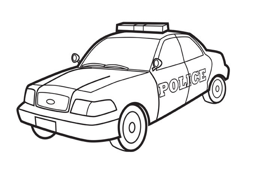 850x567 Police Car Coloring Pages To Print